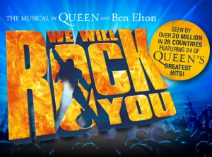Ticket voor de spectaculaire musical We Will Rock You! TEC Entertainment