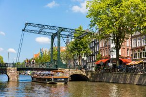 Amsterdam canal cruise by semi open boat